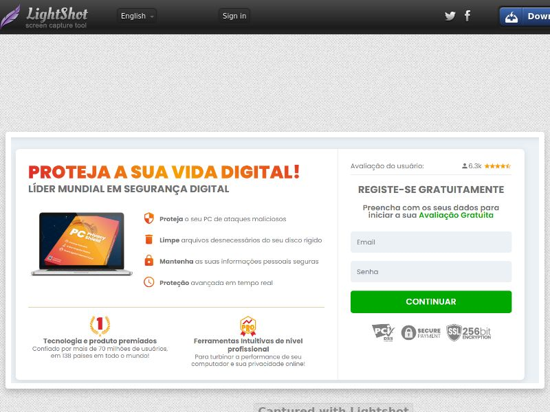 ProtectNow PC Privacy - Direct Registration (White) (CC Trial) - Paraguay