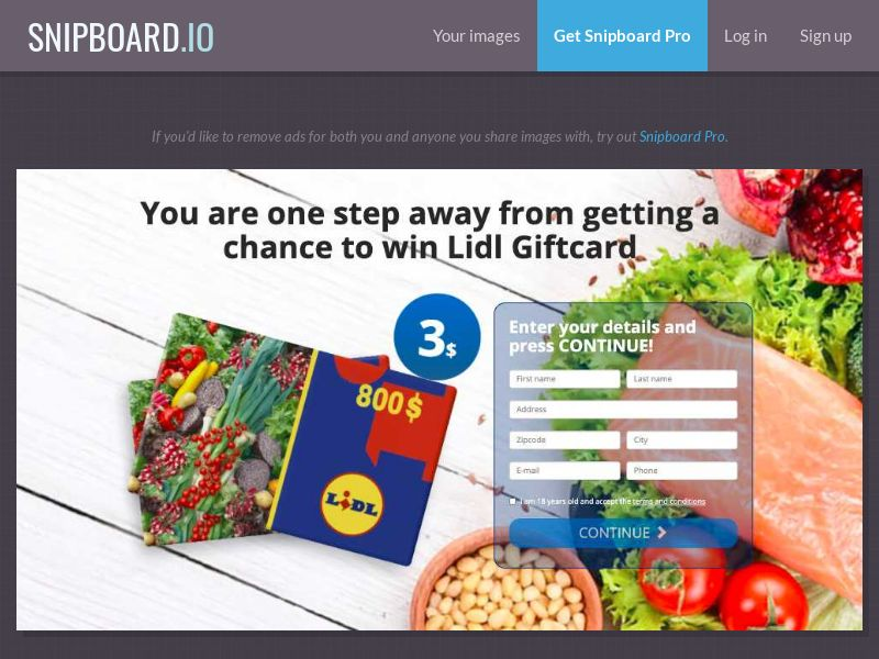 37235 - AU - BigEntry - Lidl Giftcard - CC submit
