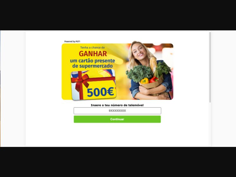 Win Lidl Gift Card - SMS flow - PT - Sweepstakes - Mobile