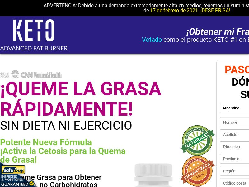 Keto Advanced Fat Burner LP04 (Spanish)