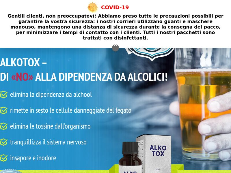 ALKOTOX IT - alcoholism treatment product