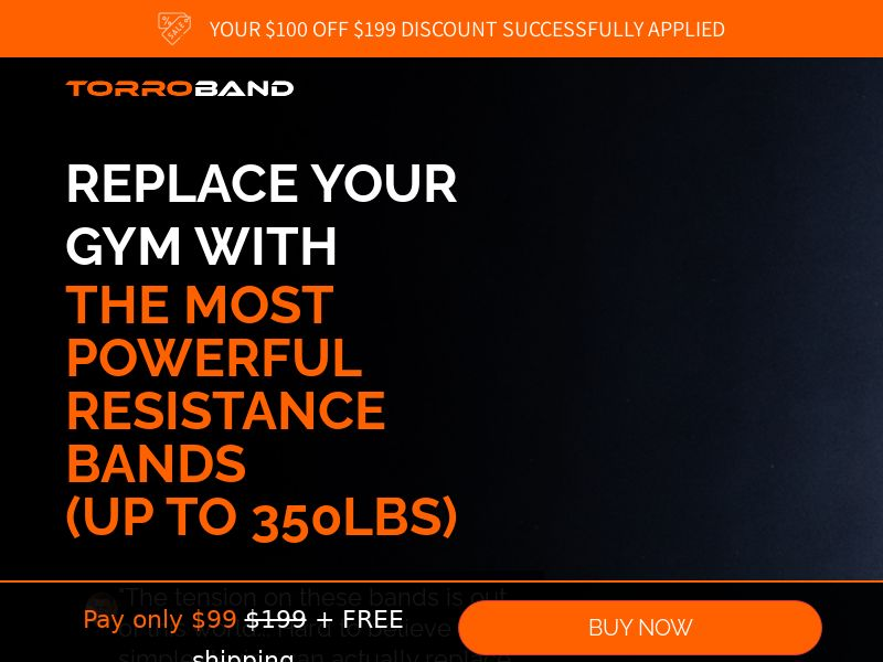 TorroBand: Workout Resistance Bands $99 CTC (CPA) (US)