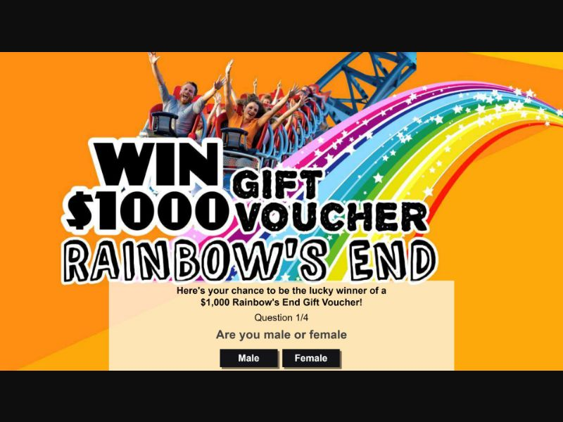 Win a $1000 Rainbow's End Gift Card - NZ