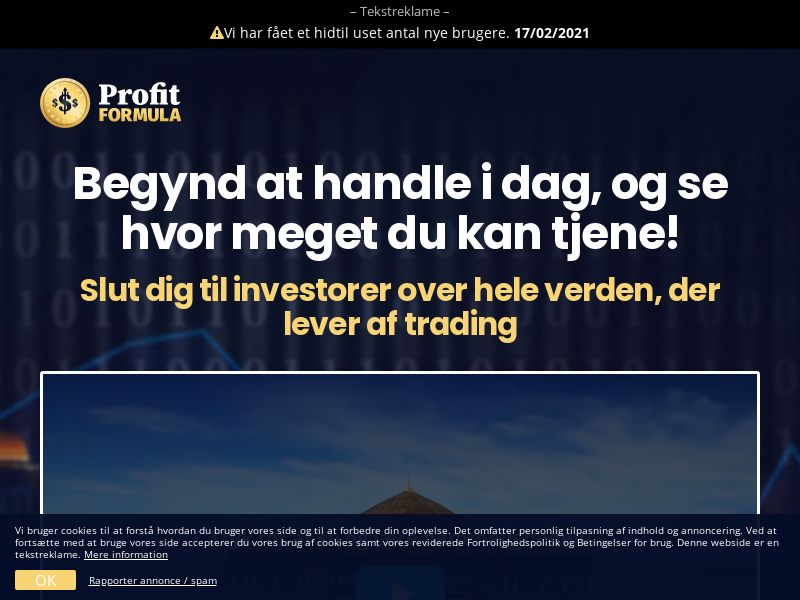 Profit Formula DK (DK), [CPA], Business, Investment platforms, Forex, Deposit Payment, bitcoin, cryptocurrency, finance, money