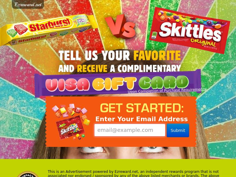 Starburst vs Skittles (US) (CPL) (Incent) (Personal Approval)