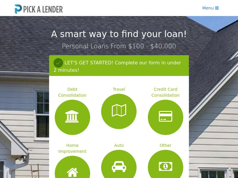 US - PickALender.com Personal Loan - Non Incent RevShare