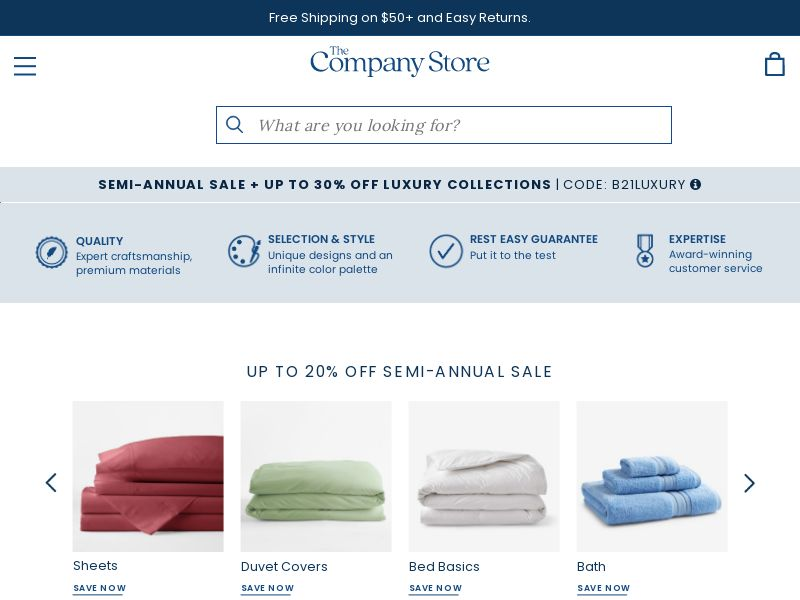 Shop The Company Store - rev share | US