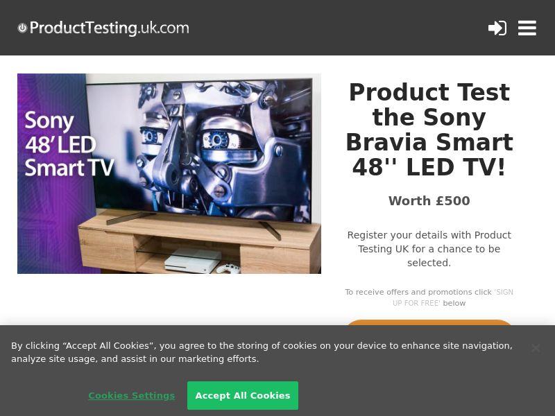 "Email Submit - Sony Bravia 48"" TV - SOI (UK)"