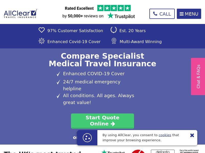AllClear Travel Insurance UK
