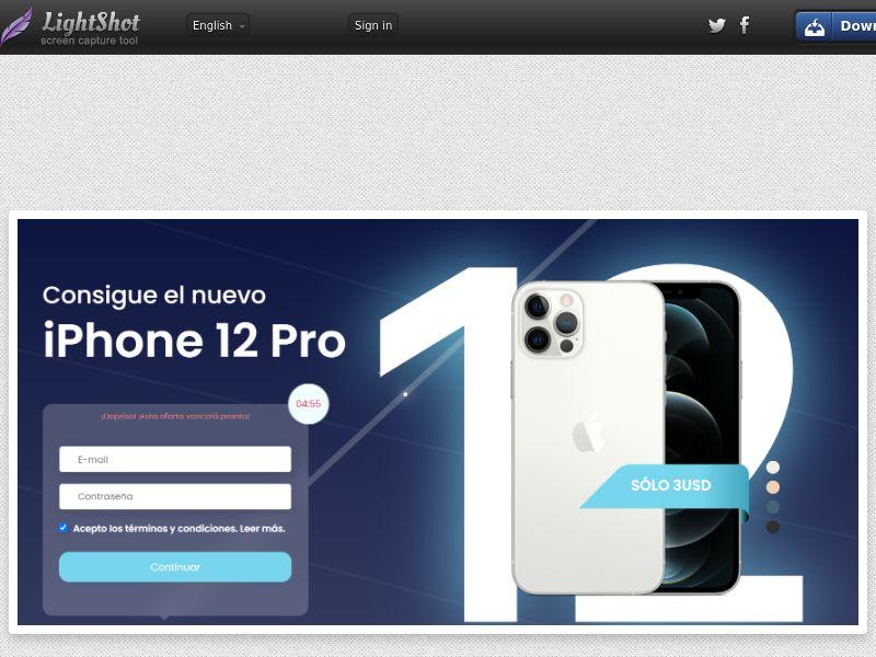 Sweeps IPhone 12 Pro - LP2 (CC Trial) - Mexico