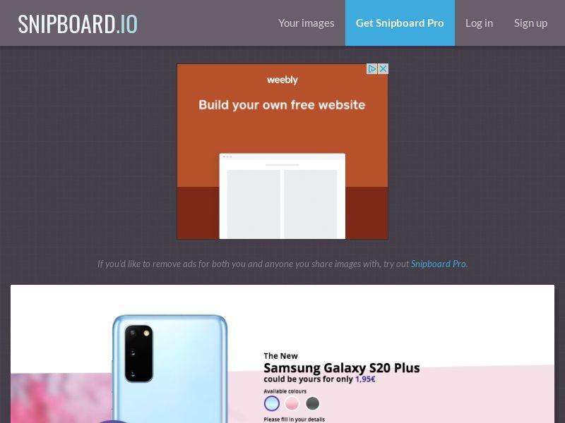 G33K - Samsung Galaxy S20 Plus FR - CC Submit