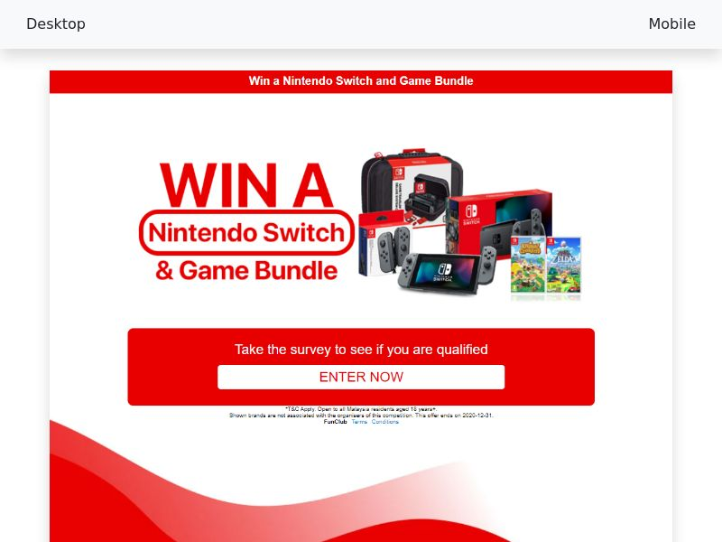 Nintendo Switch and Game Bundle - CPL/SOI - [MY]