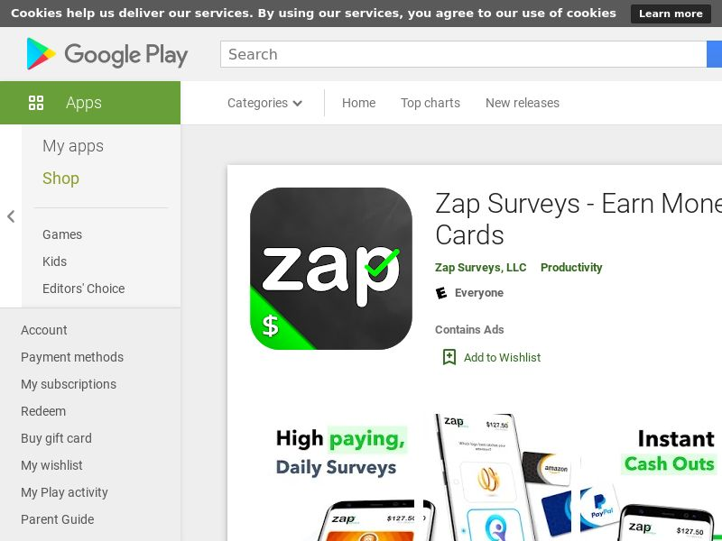 Zap Surveys CPA (Android 5.0+) US - Non incent