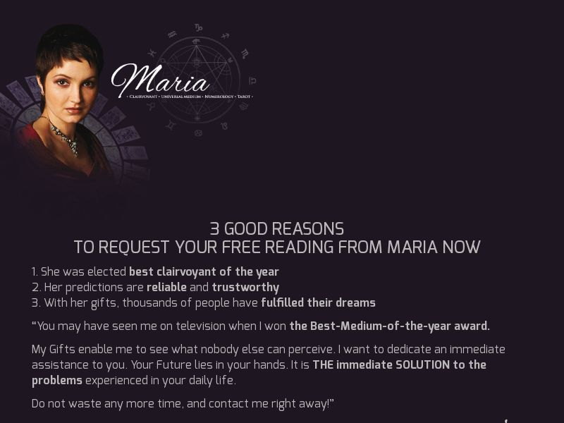 Maria - First Page - CH/UK - Email Only [DIRECT]
