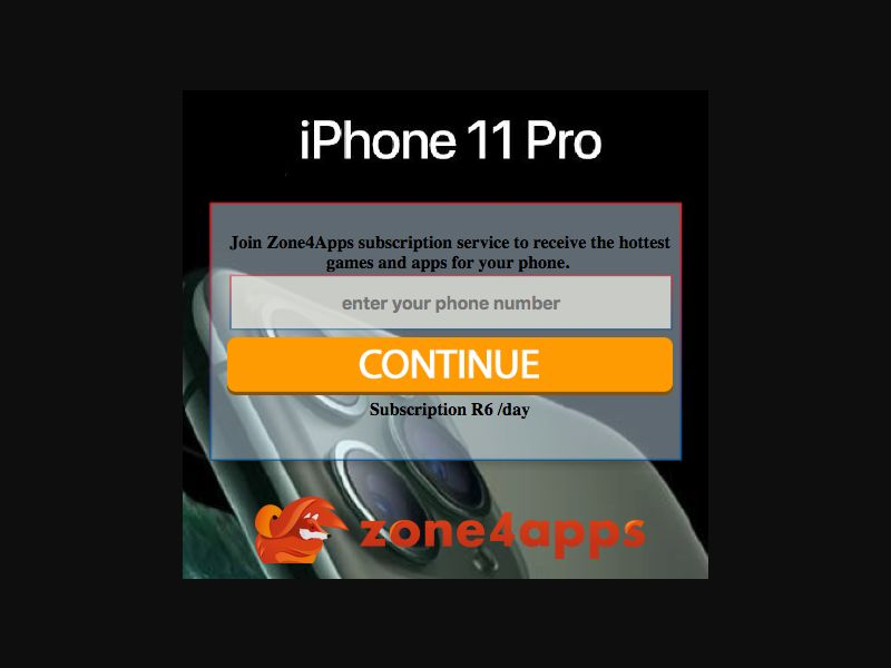 iPhone 11 Pro - SMS Flow - ZA - CellC - Sweepstakes - Mobile