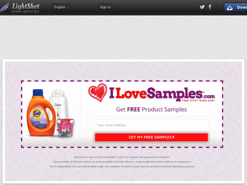 [WEB/MOB] ILoveSamples- CPL SOI /US