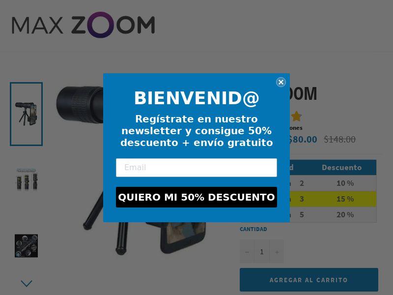 Max Zoom - Nano Tech Portable 4K Monocular - CPA - [22 GEOs]