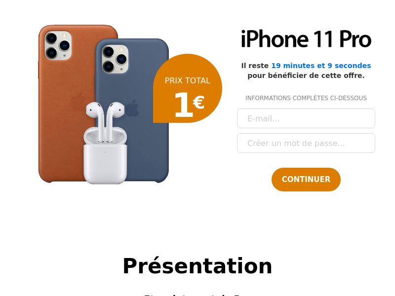 Iphone 11 - FR - CC submit