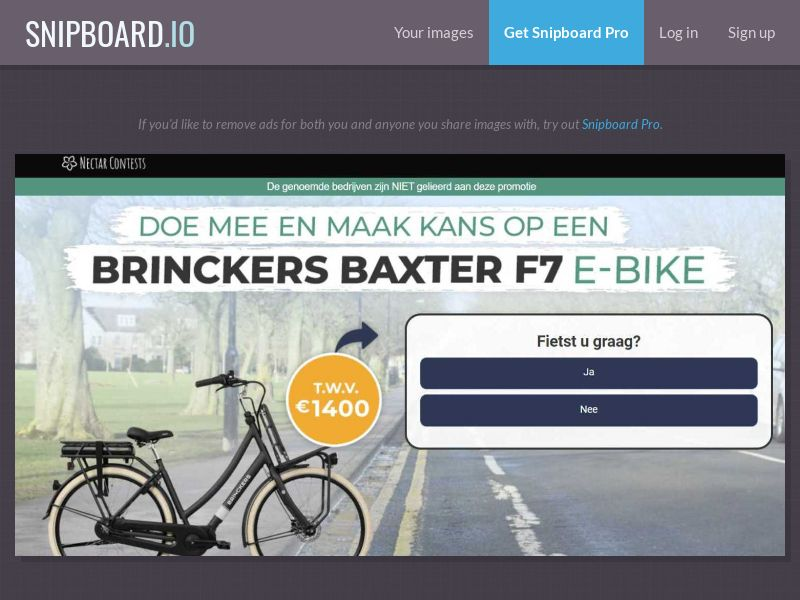 37349 - BE - NectarContests - E-bike (dutch) (WithPrelander) - SOI