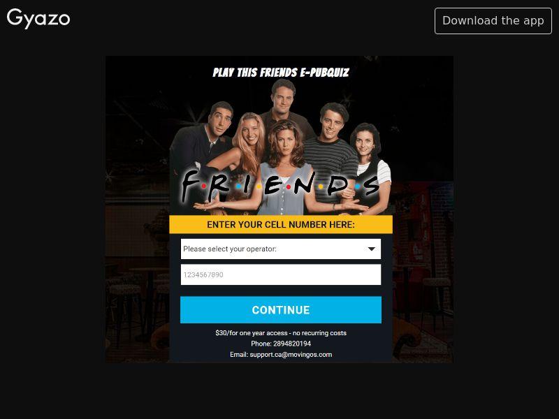 E-pubquiz friends CA | MO Flow