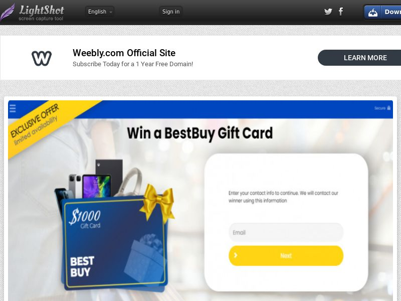 Yousweeps - Win A Bestbuy Gift (US) (CPL) (Personal Approval)