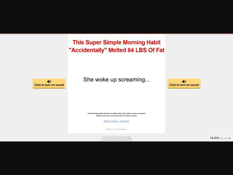Flat Belly Fix - VSL - Fitness - SS - [All GEOs, No AU]