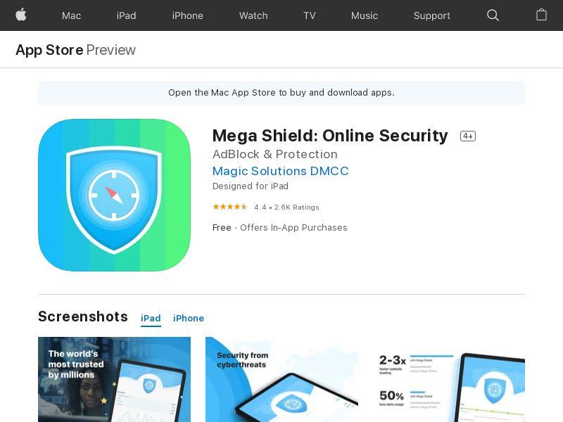 Megashield with prelander iOS CA AU NZ JP geo - CA AU NZ JP CPI MOB