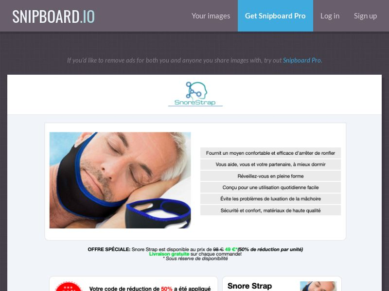 37958 - ALL - E-Commerce - Snore Strap - Order Page 1.0 The Classic - All Languages WW - CPS