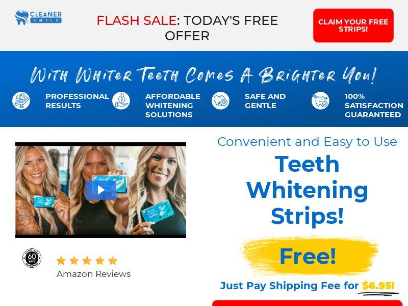 Cleaner Smiles Teeth Whitening | $6.95 CTC (Trial) - US