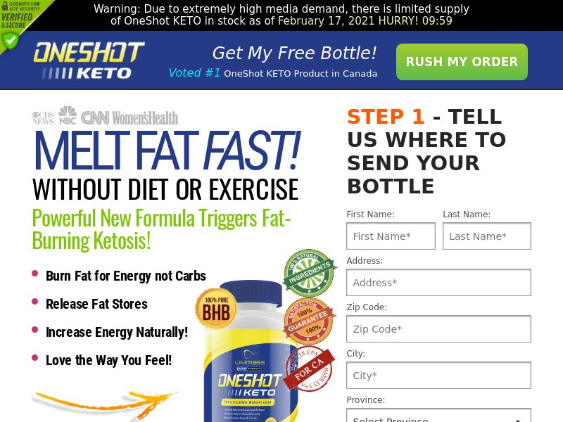 One Shot KETO - Diet - CPA [CA]