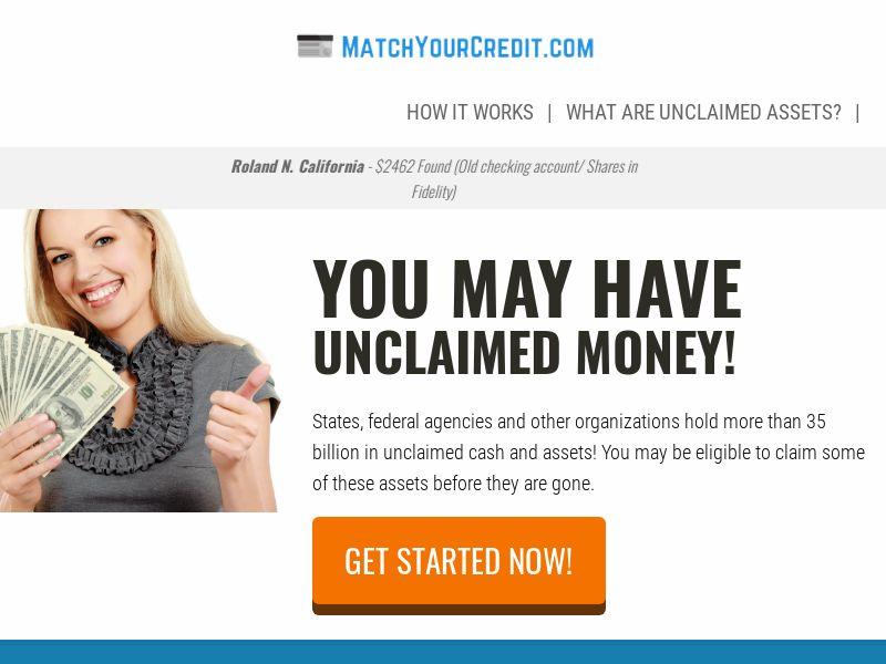 MatchYourCredit.com - Unclaimed Money - US - CPL