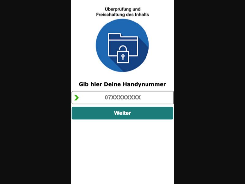 Content Unlocker - SMS Flow - CH - Software - Mobile