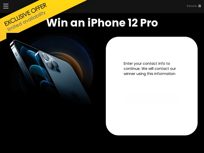 YOUSWEEPS - Win an iPhone 12 Pro   US