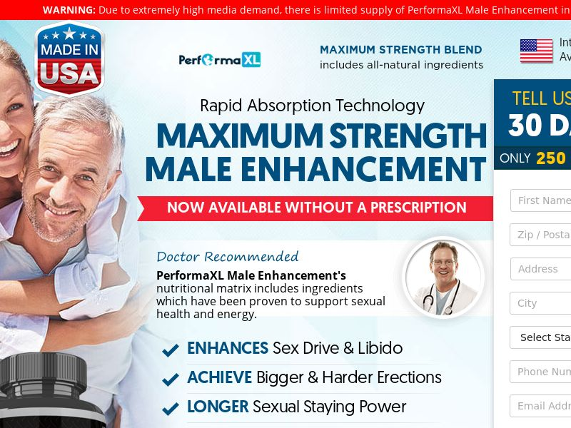 ME -Performaxl Male Enhancement w/Upsell -US