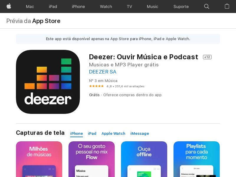 Deezer Music_iOS_BR (GAID) (CPE=subscription)