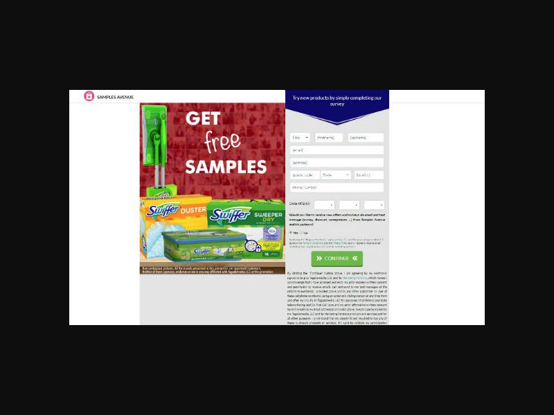 Samples Avenue - Swiffer Cleaning