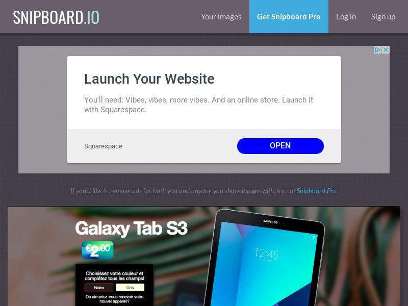 BigEntry - Samsung Galaxy Tab S3 v2 FR - CC Submit