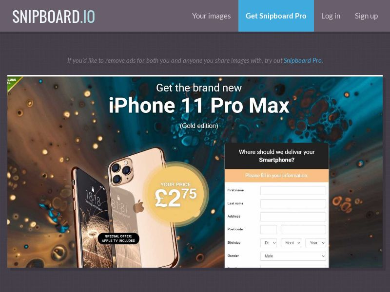 37187 - UK - Lotto24 - iPhone 11 Pro (Gold) New design - CC submit