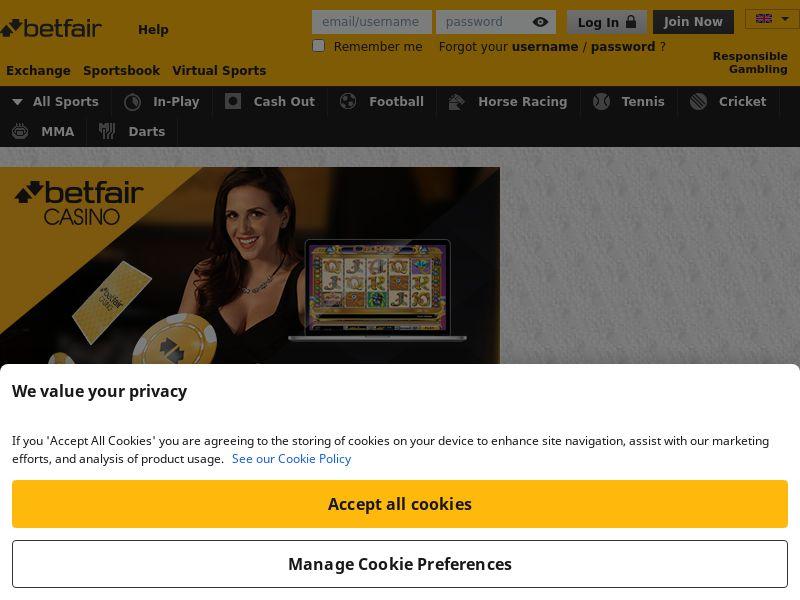 Betfair Casino - RevShare - Mobile [DE]