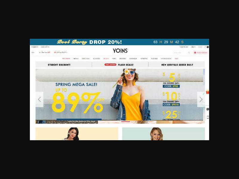 Yoins - Women's Shopping - Rev Share