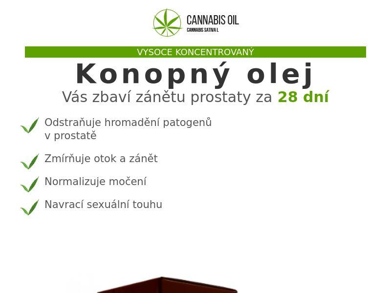 Cannabis Oil CZ (prostatitis)