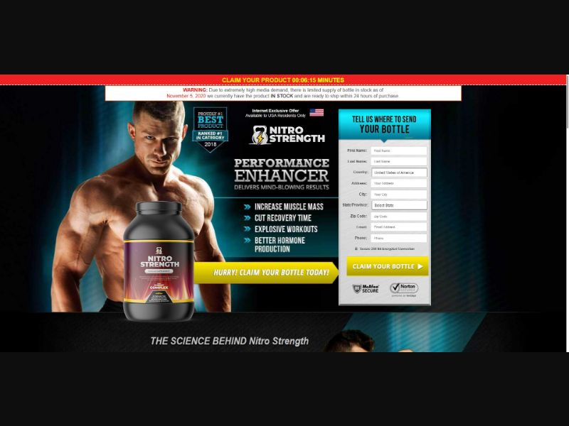 Nitro Strength Muscle Supplement - Muscle Building - SS - NO SEO - [51 GEOs]