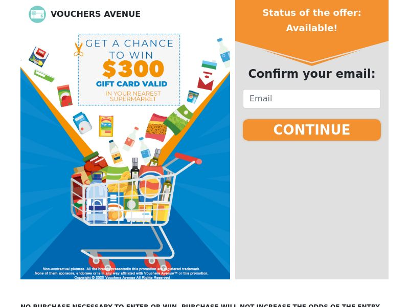 Vouchers Avenue - Gift card supermarket - CPL - US [EXCLUSIVE]