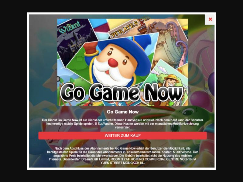 Go Game Now - SMS Flow - AT - H3G - Online Games - Mobile