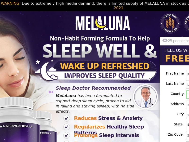 MelaLuna [SLEEP AID] - CPA - Straight Sale - US