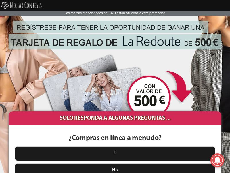 NectarContests - La Redoute Giftcard $500 CPL [ES]