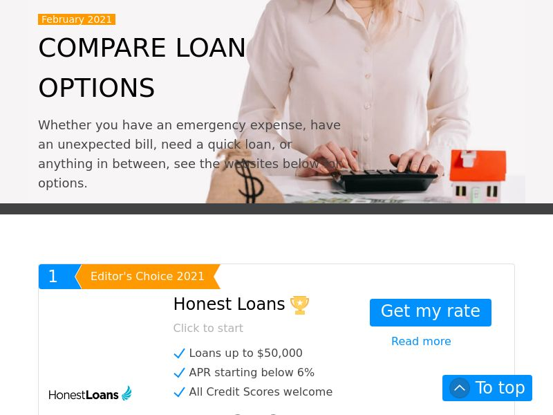 Compare Loan Options (US) (CPL) (RevShare) (Personal Approval)