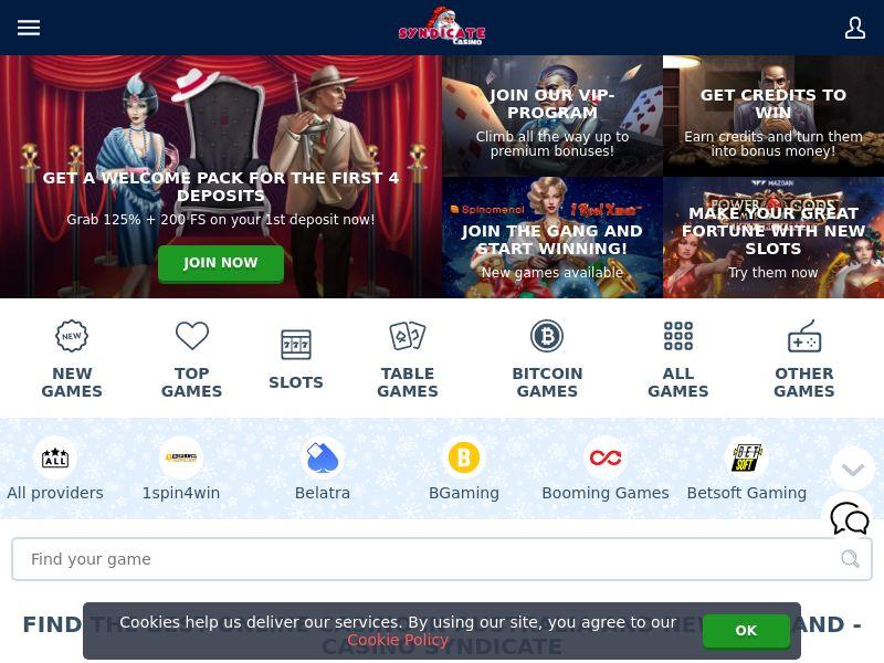 Syndicate Casino | Minimum FTD (no baseline) | AU, NZ