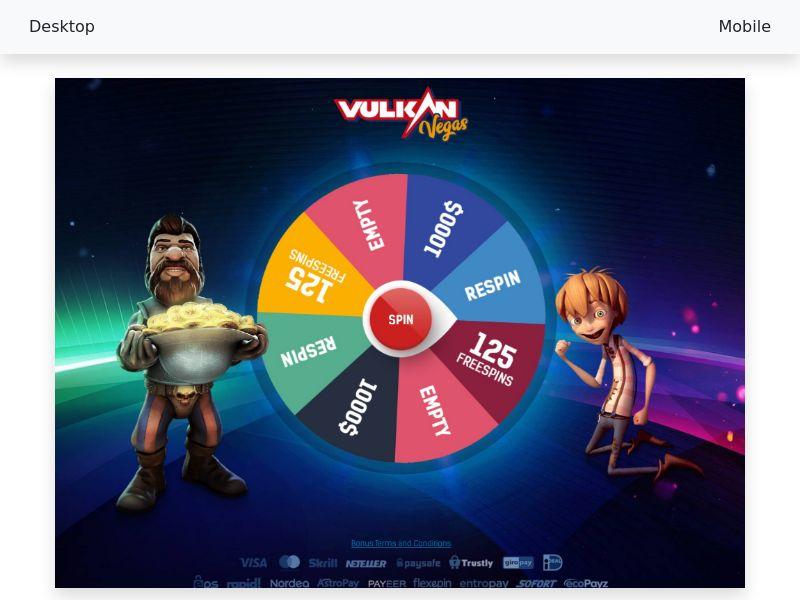 Vulkan Vegas - CPA - CL