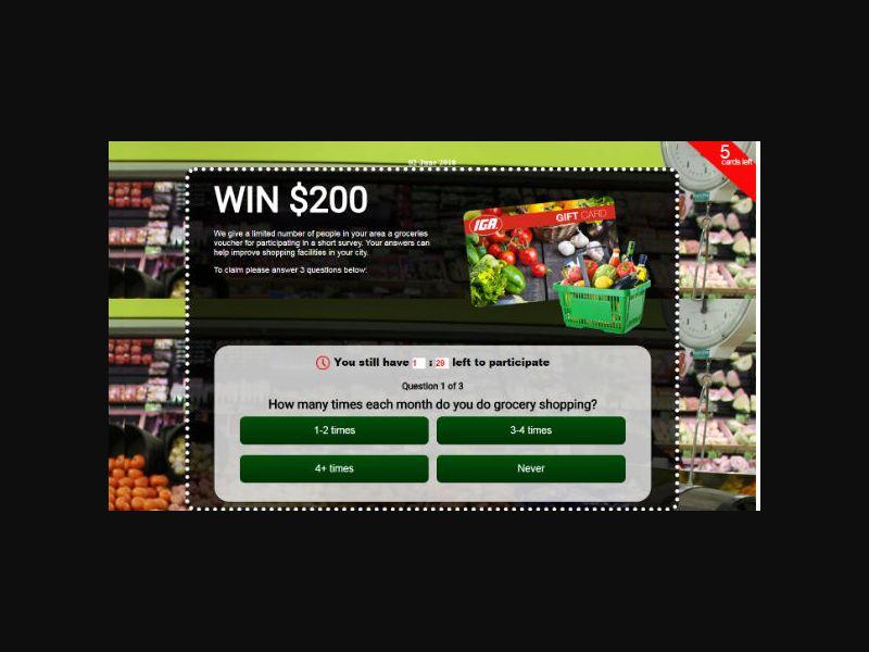 Win a $200 IGA Groceries Voucher - (AU)